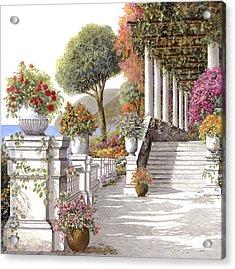 four seasons-summer on lake Como Acrylic Print by Guido Borelli