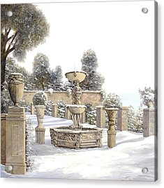 four seasons-winter on lake Como Acrylic Print
