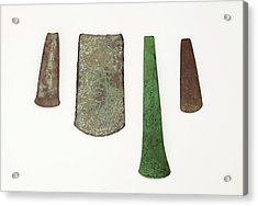 Four Simple Copper Age Flat Axe Celts Acrylic Print