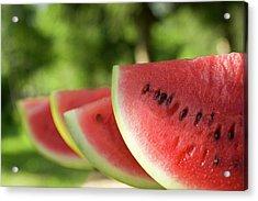 Four Slices Of Watermelon Acrylic Print