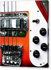 Four String Rickenbacker Bass  Acrylic Print by Chris Berry
