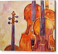 Four Violins Acrylic Print by Jenny Armitage