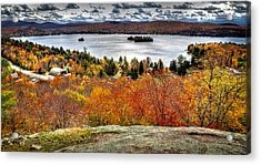 Fourth Lake From Above Acrylic Print by David Patterson