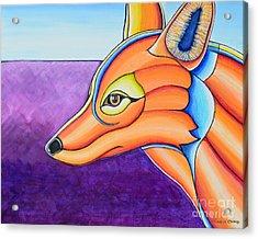 Acrylic Print featuring the painting Fox 1 by Joseph J Stevens