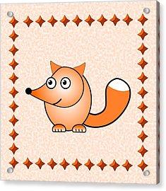 Fox - Animals - Art For Kids Acrylic Print