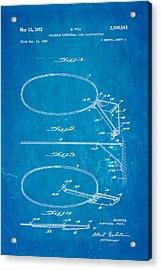 Fox Foldable Basketball Goal Patent Art 1952 Blueprint Acrylic Print by Ian Monk
