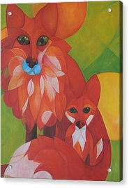 Fox Haven Acrylic Print by Denise Fisher