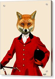 Fox Hunter 2 Portrait Acrylic Print by Kelly McLaughlan