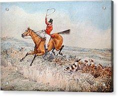Fox Hunting Acrylic Print by Henry Thomas Alken