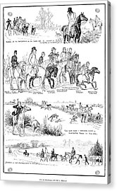 Fox Hunting, 1878 Acrylic Print by Granger