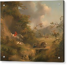 Fox Hunting In Hilly Country Acrylic Print
