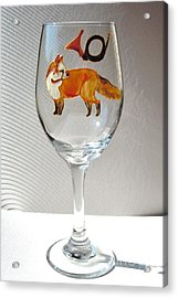 Fox Hunting On Glass Acrylic Print by Pauline Ross