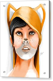 FOX Acrylic Print by Jason Longstreet
