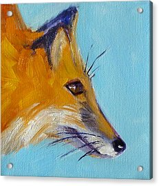 Fox Acrylic Print by Nancy Merkle