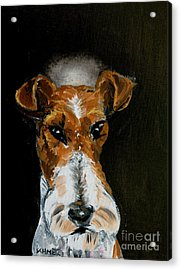 Fox Terrier Angel Acrylic Print by Jay  Schmetz