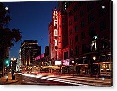 Fox Theater Twilight Acrylic Print