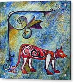 Fox Totem Acrylic Print by Catherine Meyers