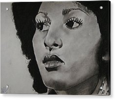 Foxy Brown Acrylic Print by Aaron Balderas