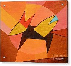 Foxy Acrylic Print by Lutz Baar