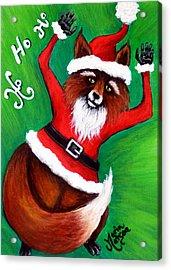 Foxy Santa Acrylic Print