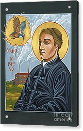 Fr. Gerard Manley Hopkins The Poet's Poet 144 Acrylic Print by William Hart McNichols