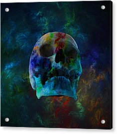 Fracskull 3 Acrylic Print by Chris Thomas