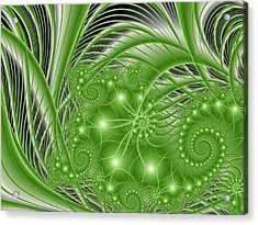 Fractal Abstract Green Nature Acrylic Print