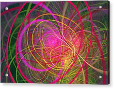 Fractal - Abstract - Loopy Doopy Acrylic Print by Mike Savad