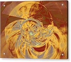 Fractal Ammonite Acrylic Print
