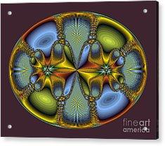 Fractal Art Egg Acrylic Print