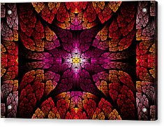 Fractal - Aztec - The All Seeing Eye Acrylic Print by Mike Savad