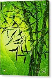 Fractal Bamboo Acrylic Print by Lutz Baar