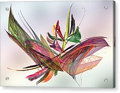 Fractal Butterfly Acrylic Print by Camille Lopez