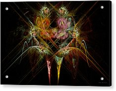 Fractal - Christ - Angels Embrace Acrylic Print by Mike Savad