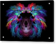 Fractal - Christ - Angels Wings Acrylic Print by Mike Savad