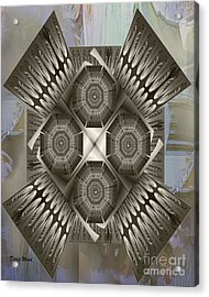 Fractal Design Number Nine Acrylic Print by Doris Wood