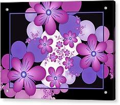 Fractal Flowers Modern Art Acrylic Print by Gabiw Art