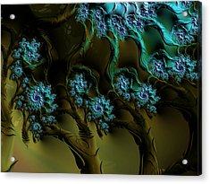 Fractal Forest Acrylic Print by GJ Blackman