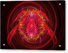 Fractal - Insect - Jeweled Scarab Acrylic Print by Mike Savad