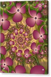Fractal Joy Acrylic Print by Gabiw Art