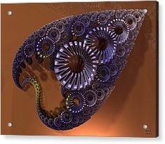 Fractal Leaf Jewel Acrylic Print