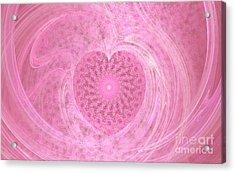 Fractal Love Acrylic Print by Peggy Hughes