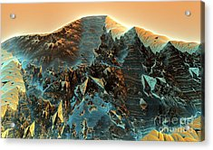 Fractal Moutain Acrylic Print by Bernard MICHEL