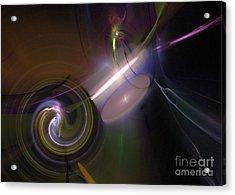 Acrylic Print featuring the digital art Fractal Multi Color by Henrik Lehnerer
