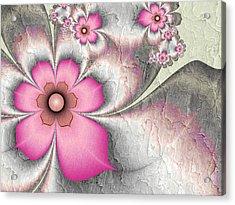 Fractal Nostalgic Flowers 2 Acrylic Print by Gabiw Art