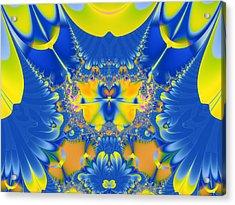 Fractal Owl Acrylic Print by Ian Mitchell