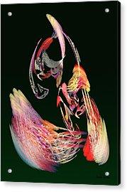 Fractal - Parrot Acrylic Print by Susan Savad