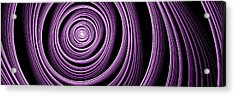 Fractal Purple Swirl Acrylic Print by Gabiw Art