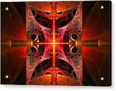 Fractal - Science - Cold Fusion Acrylic Print by Mike Savad