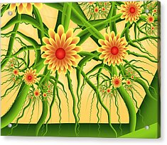 Fractal Summer Pleasures Acrylic Print